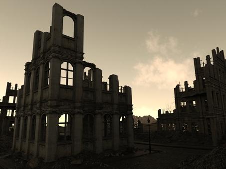 天空の廃墟の街