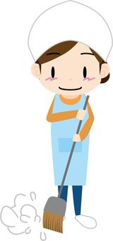 Sweeping (housewife)