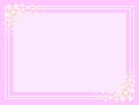Cherry blossom message card