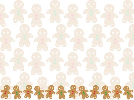 Gingerman cookie background