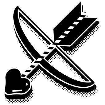 Heart bow and arrow