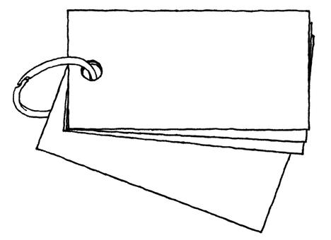 Notepad (card horizontal type) Black and white