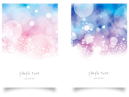 Watercolor frame set ver21