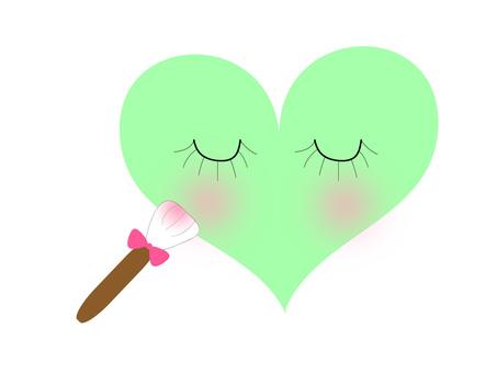 Heart in makeup