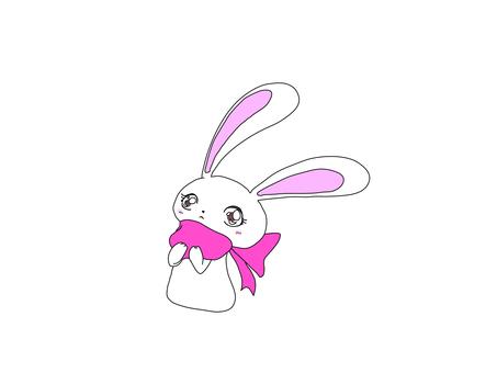 Fashionable rabbit