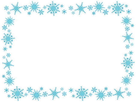 Snow crystal frame 1