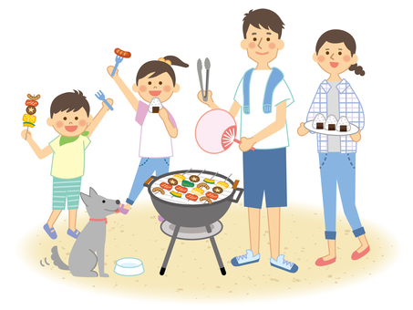 Barbecue with family_3