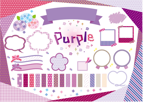 Purple material pattern