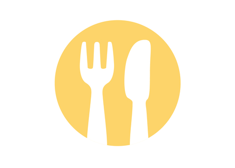 Cutlery Pict (Orange)