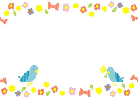 Flower ribbon frame 2
