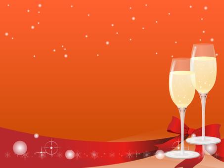 Champagne decorative frame 3