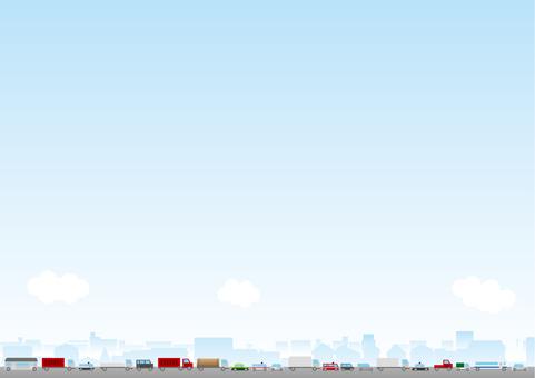 거리 풍경 배경 시리즈 자동차