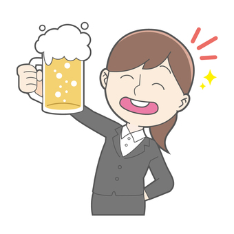 Business - female - beer
