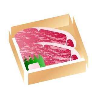 Meat - sirloin of beef with case