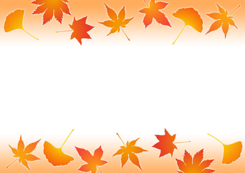 Autumn frame autumn leaves 02