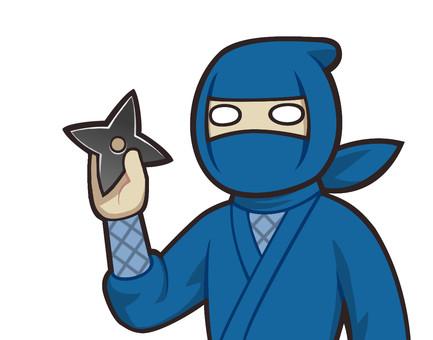 Ninja with a shuriken