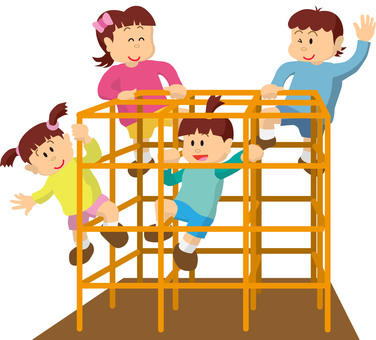 Jungle gym and children