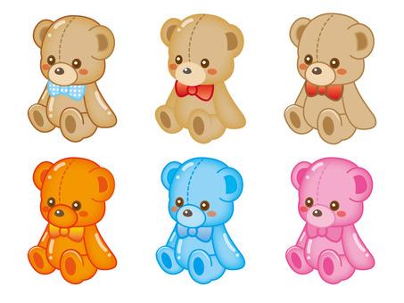 Stuffed bear parts