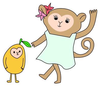 Osasu and Mango of Tropical country