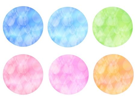 Icon, circle, white drop