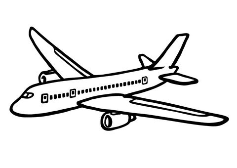 Hand drawn _ airplane