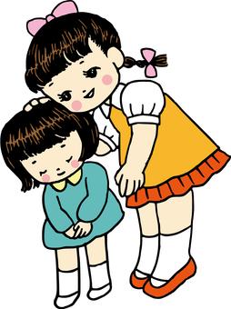 Showa Retro Sisters Greetings