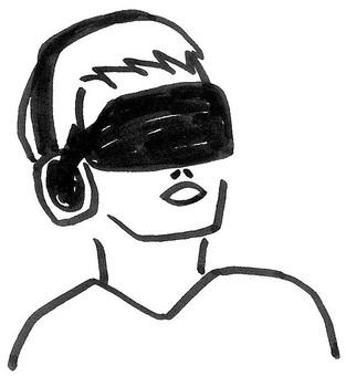 VR男子张开男性的嘴巴