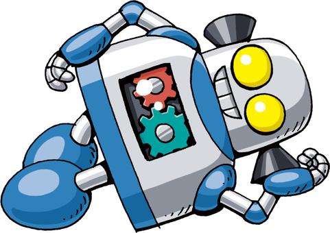 Robot lying down