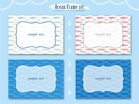 바다 생물의 프레임 세트