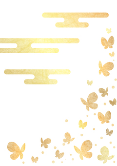 Gold leaf butterfly background transparent ants