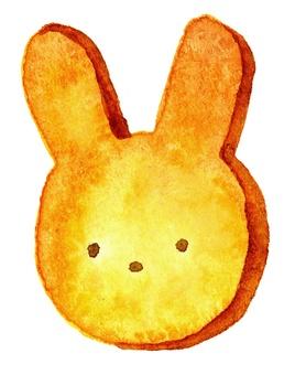 토끼 쿠키 수채화