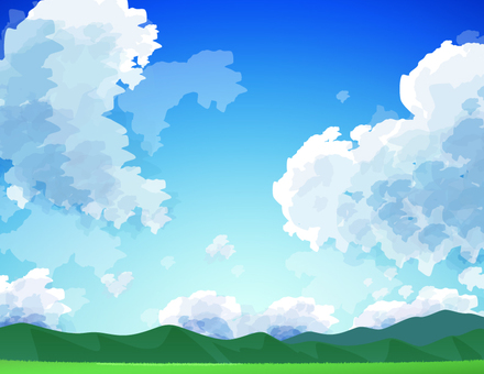 Mountain and sky _ background