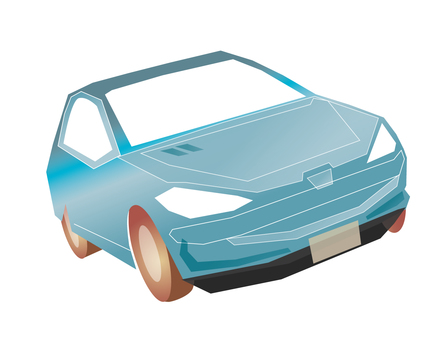 Light blue car