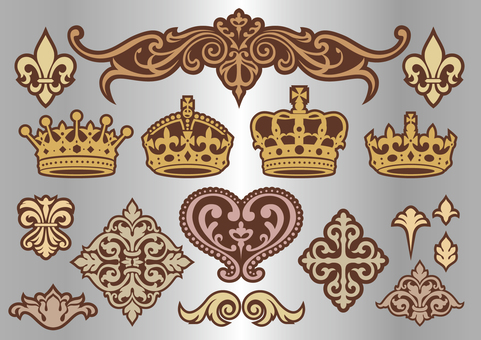 Crown decorative Bordery set