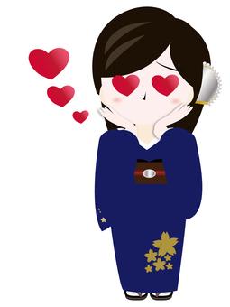 Yamato deshiko of kimono