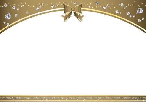 Ribbon frame gold