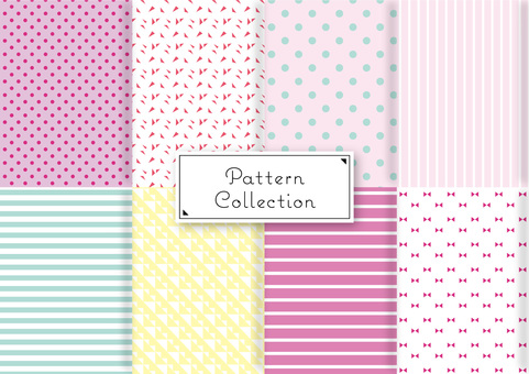 Cute simple pattern set