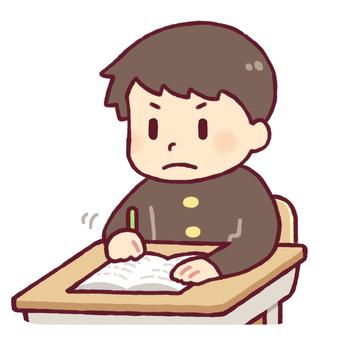 學生做筆記