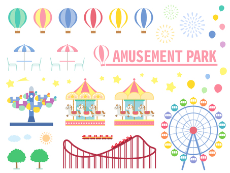 Material set of amusement park