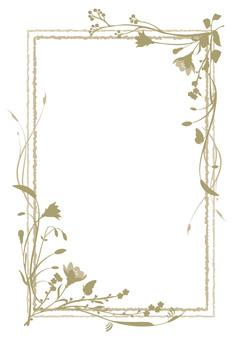 Natural flower decorative frame
