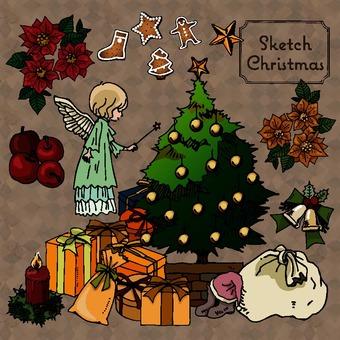 聖誕節插圖包