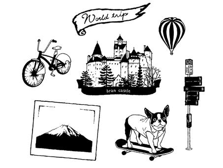 World travel 5 / skateboard dog
