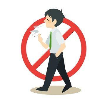 No walking cigarette