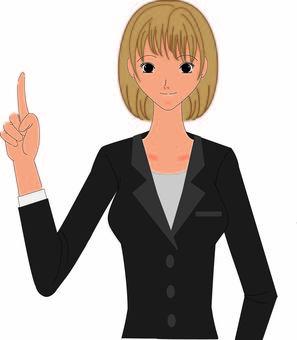 A woman's suit ③