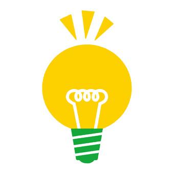 Light bulb green