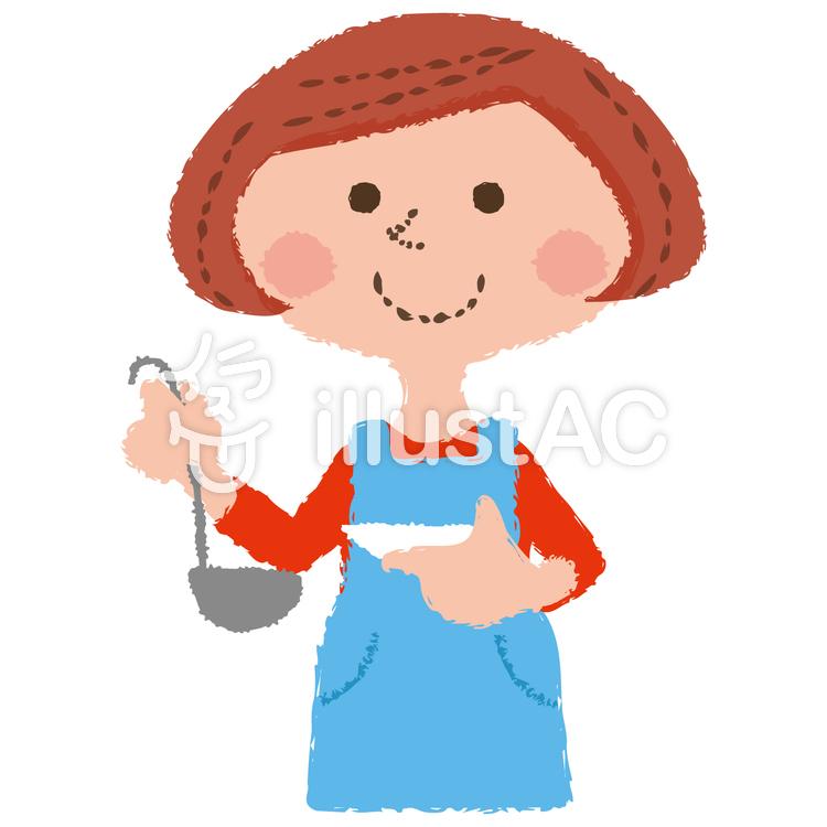 料理する女性イラスト No 1256646無料イラストならイラストac
