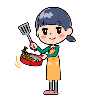 Student Blazer Frying Female Food