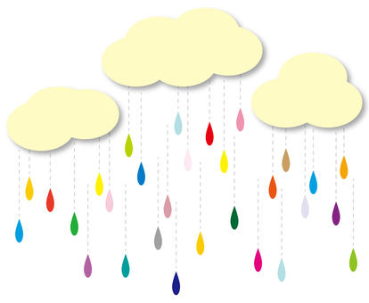 Illustration 3 of rain and clouds