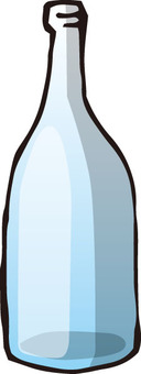 Empty bottle (with blueness)