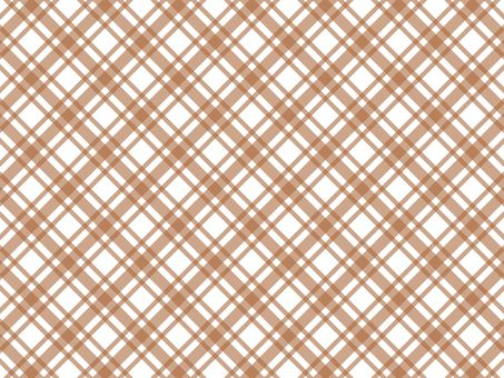 Gingham check (brown)